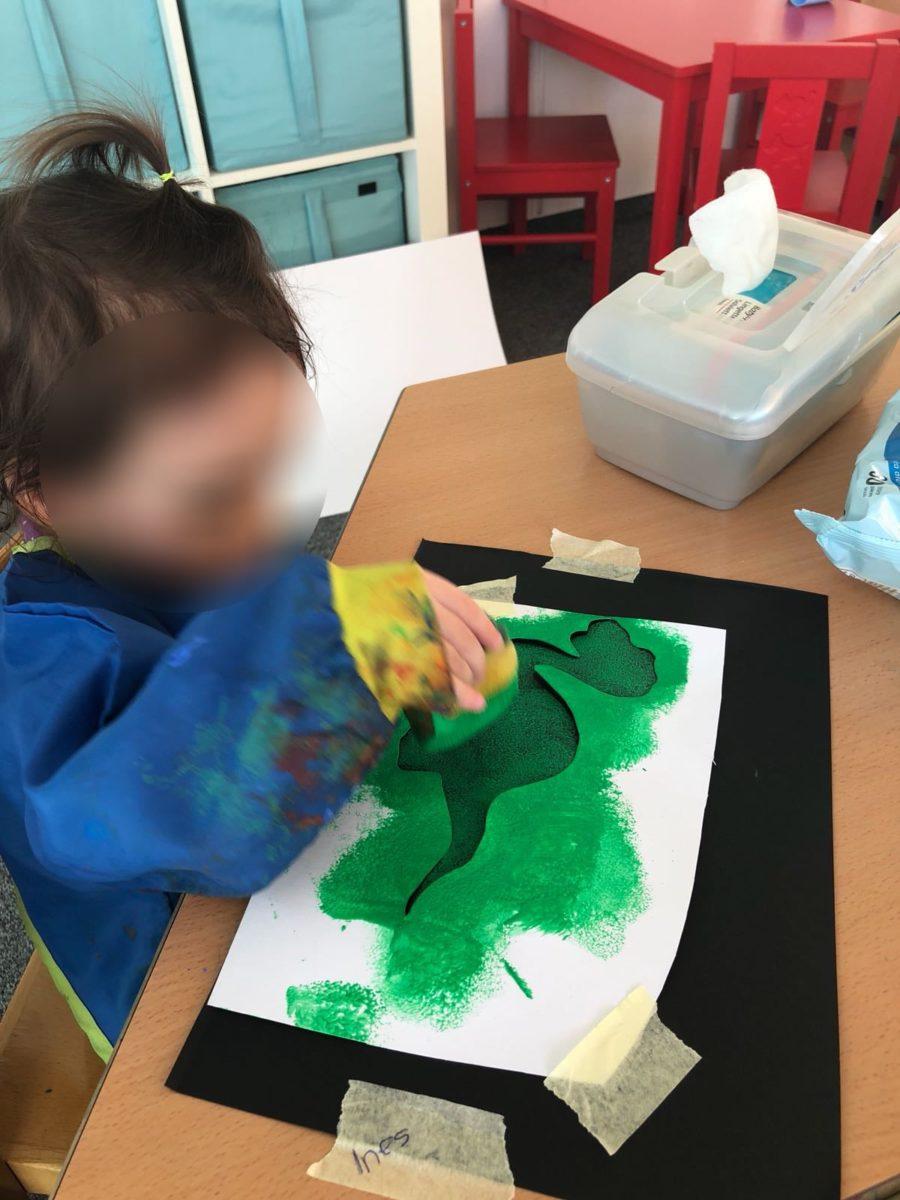 Dinosaurier Basteln Teil 3 Kinderkrippe Waldkinderkrippe Blüemli