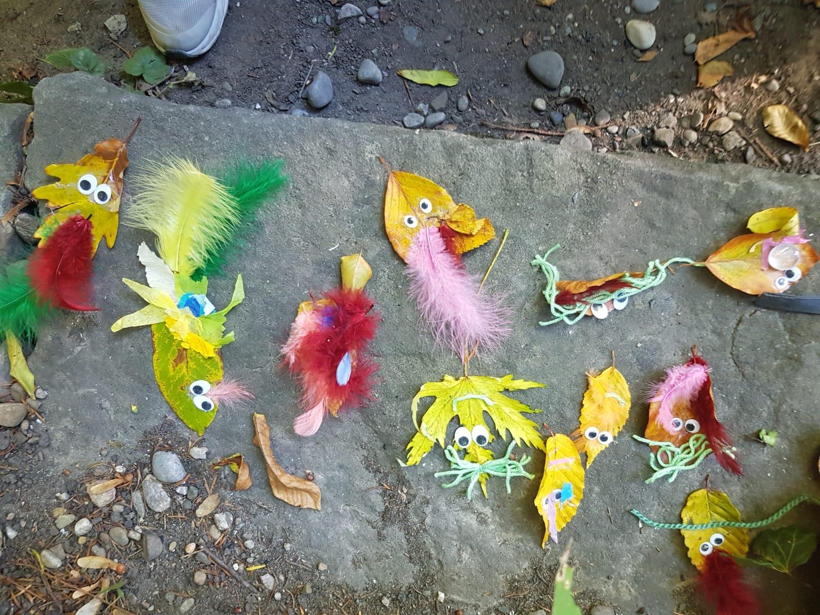 Tiere Aus Nusse Und Blatter Basteln Kinderkrippe