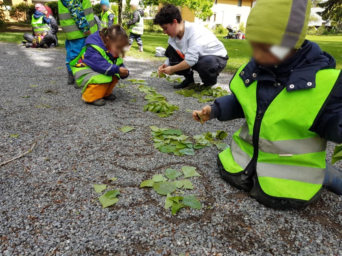 Raupe Basteln Kinderkrippe Waldkinderkrippe Blüemli