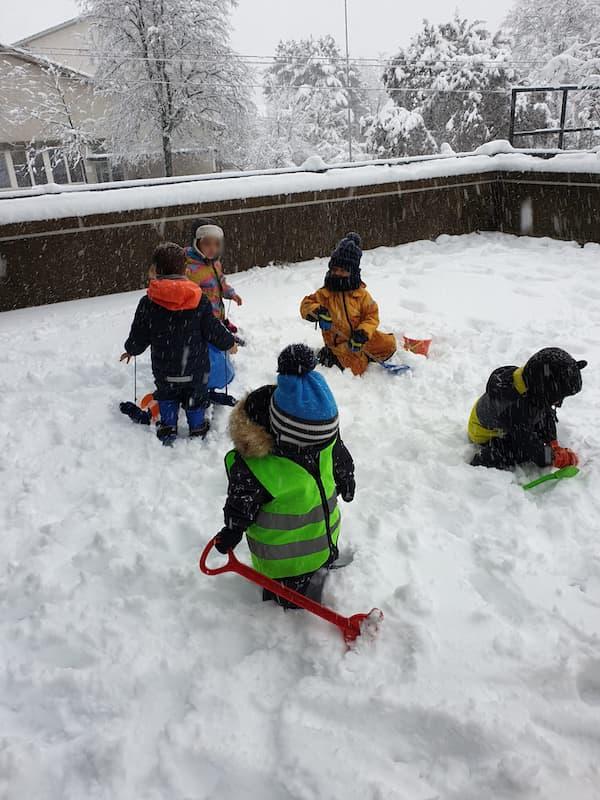 Schnee Plausch - Kinderkrippe und Waldkinderkrippe Blüemli in Zürich Witikon
