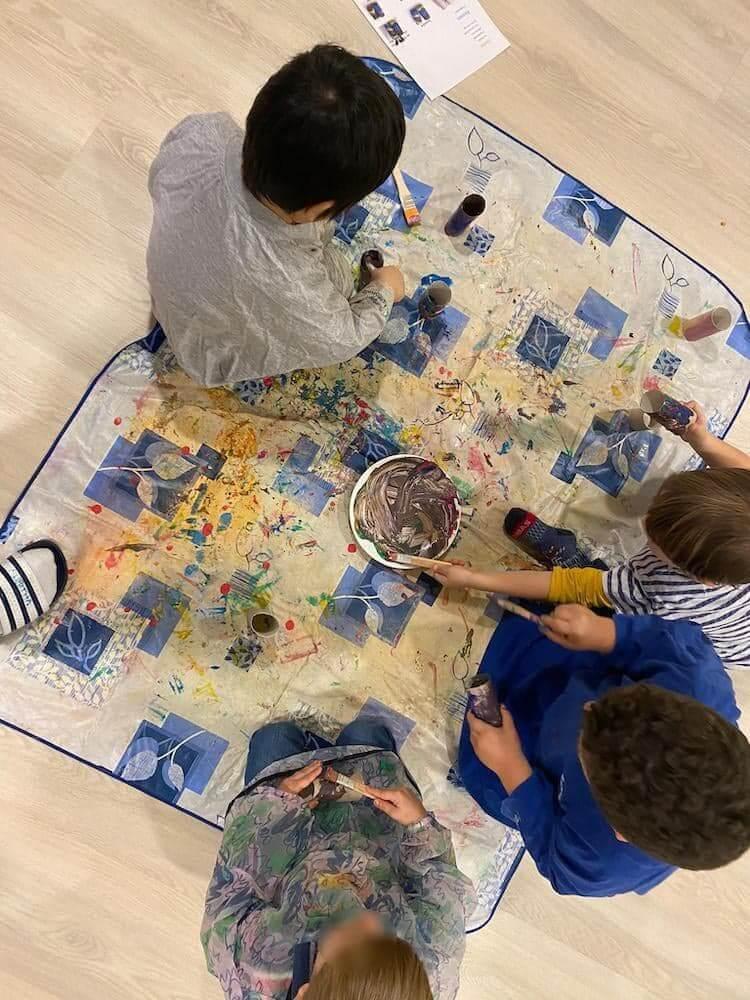 Fernglas basteln - Kinderkrippe und Waldkinderkrippe Blüemli in Zürich Witikon